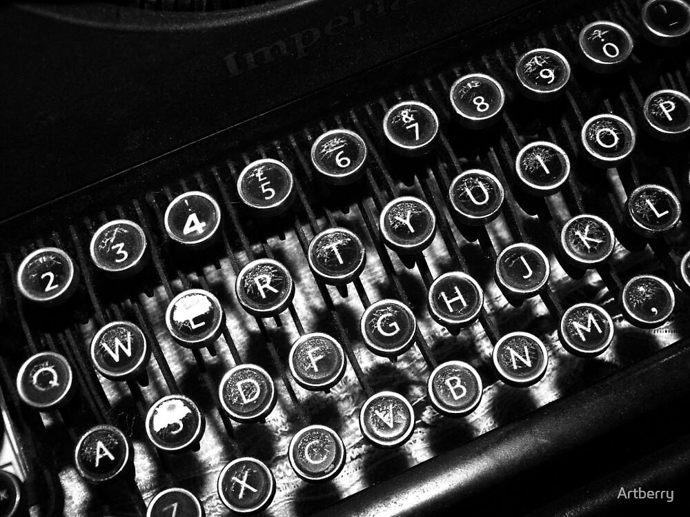 Vintage Typewriter by Artberry