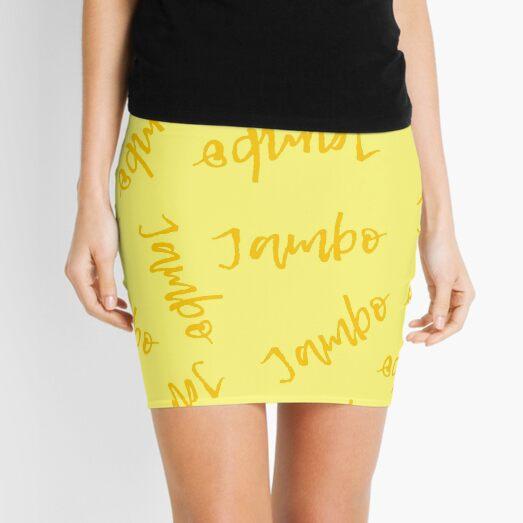Jambo (Golden Yellow) - Africa Swahili Quote Mini Skirt