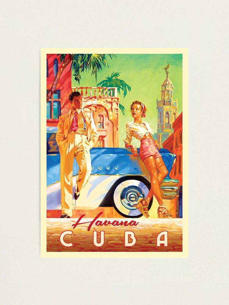 Havana Cuba Art Vintage Poster Print Art Canvas Large Painting Vintage Nautical Home Decor Posters Prints