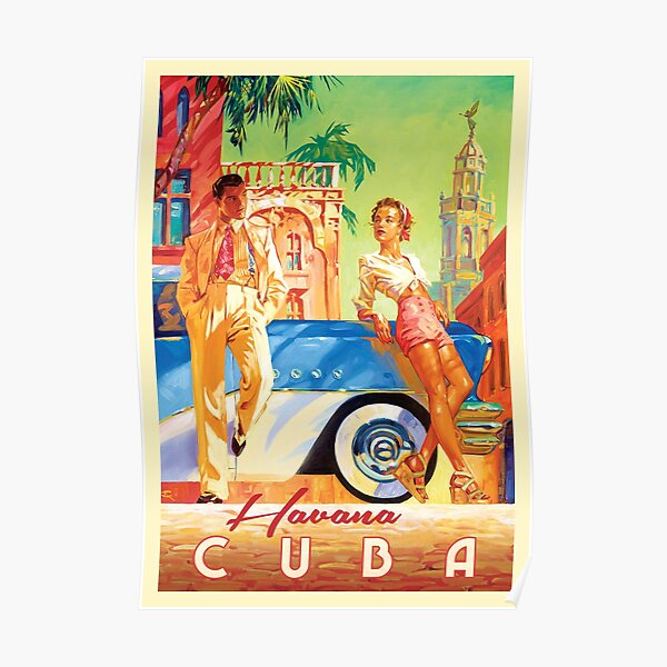 Lady Smoking Cigar Havana Cuba Travel Tourism Vintage Poster Repro FREE SH