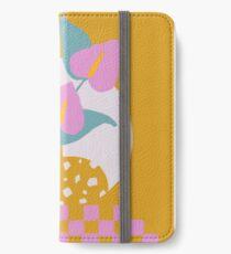Anthurium plant & Terrazzo vase iPhone Wallet/Case/Skin