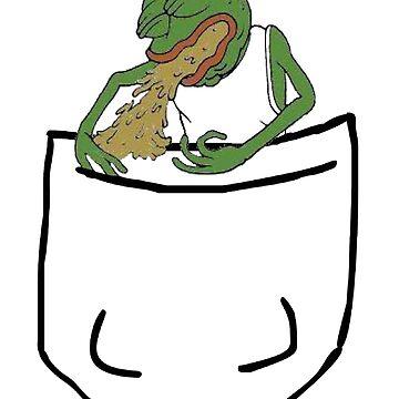 Puking Pocket Pepe by kyhro