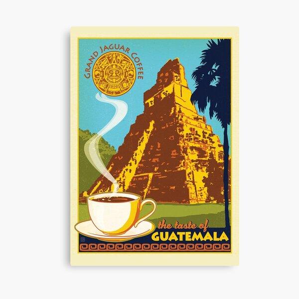 Vintage Guatemala Poster Canvas Print