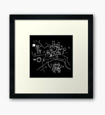 Twin Peaks - Owl Cave Map Framed Print