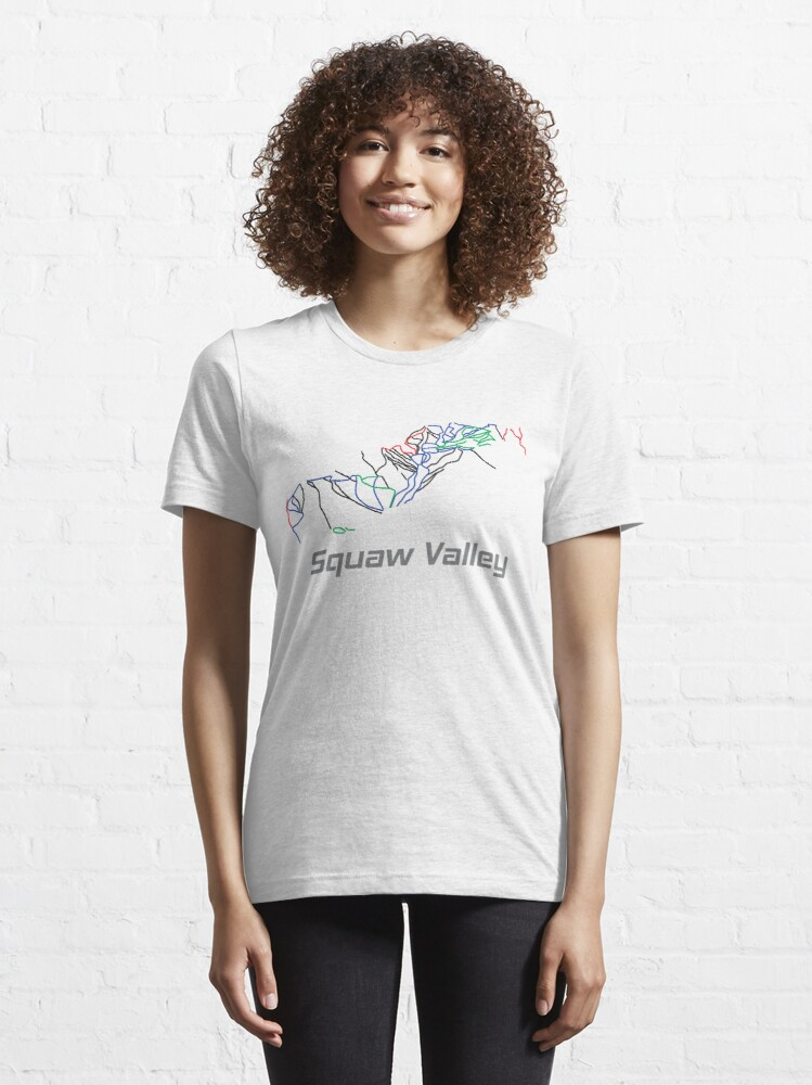 Alternate view of Squaw Valley California Ski Pist Map - Winter Vacation Gift Essential T-Shirt
