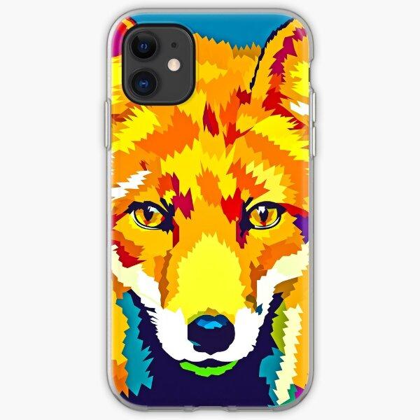 Rainbow Fox iPhone Soft Case