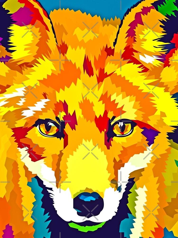 Rainbow Fox by Elviranl