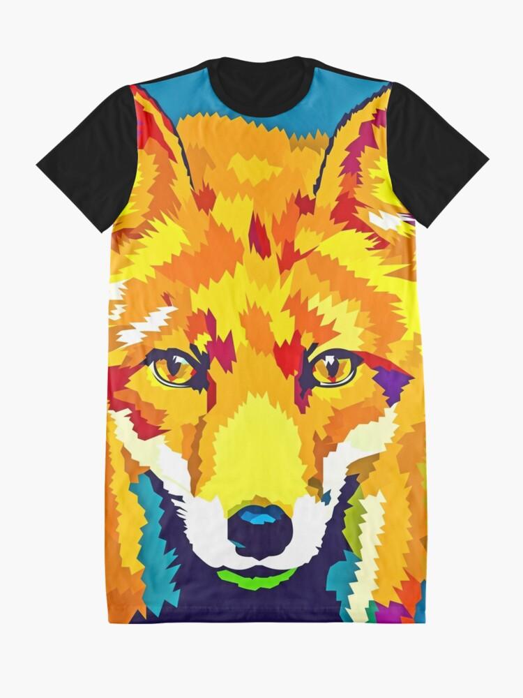 Alternate view of Rainbow Fox Graphic T-Shirt Dress