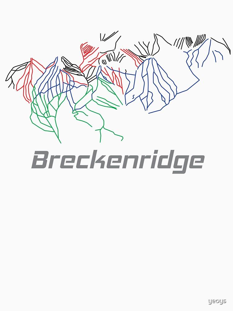 Breckenridge Colorado Ski Pist Map - Winter Vacation Gift by yeoys