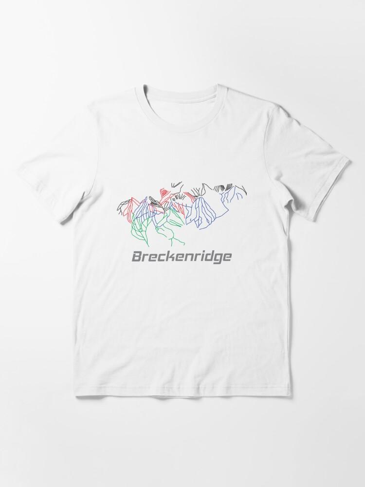 Alternate view of Breckenridge Colorado Ski Pist Map - Winter Vacation Gift Essential T-Shirt