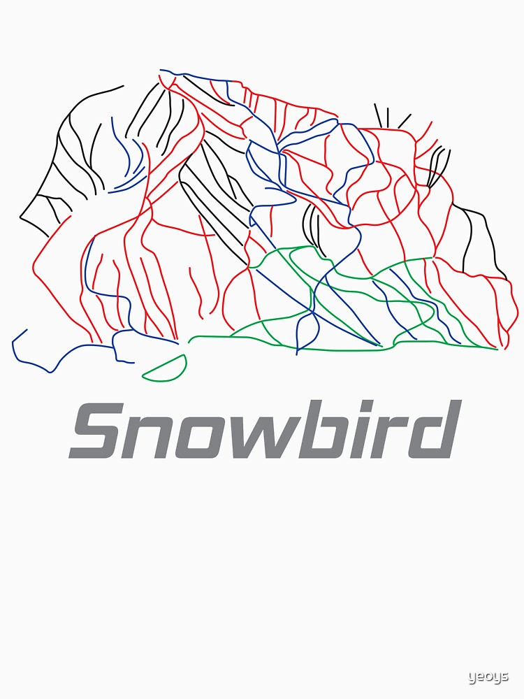 Snowbird Utah Ski Pist Map - Winter Vacation Gift von yeoys