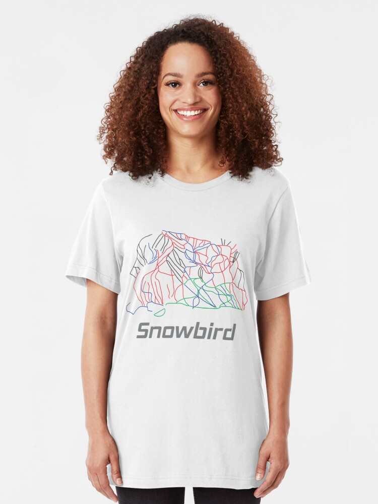 Alternative Ansicht von Snowbird Utah Ski Pist Map - Winter Vacation Gift Slim Fit T-Shirt