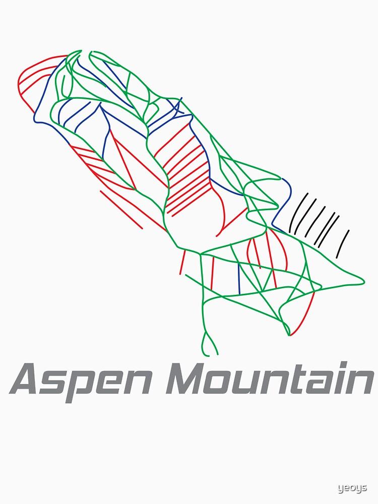 Aspen Mountain Colorado Ski Pist Map - Winter Vacation Gift by yeoys