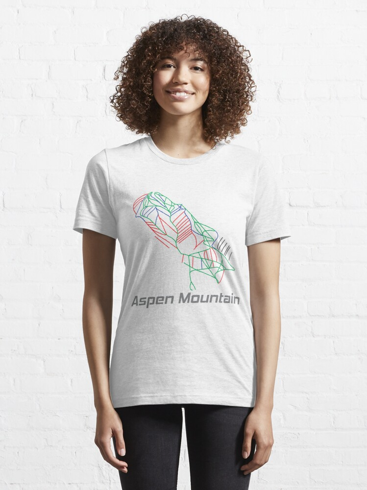 Alternate view of Aspen Mountain Colorado Ski Pist Map - Winter Vacation Gift Essential T-Shirt