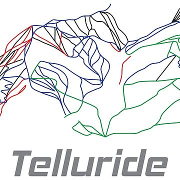 Telluride Colorado Ski Pist Map - Winter Vacation Gift by yeoys