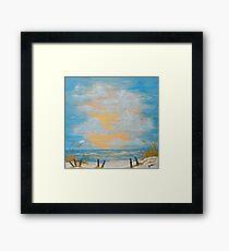 """Serenity in Blue"" Framed Print"