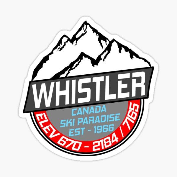 Ski Whistler B.C Canada Skiing Paradise Sticker