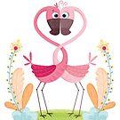 Flamingo's love by Angela Sbandelli