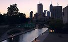 Indianapolis Canal Walk and Skyline by Declan Lopez