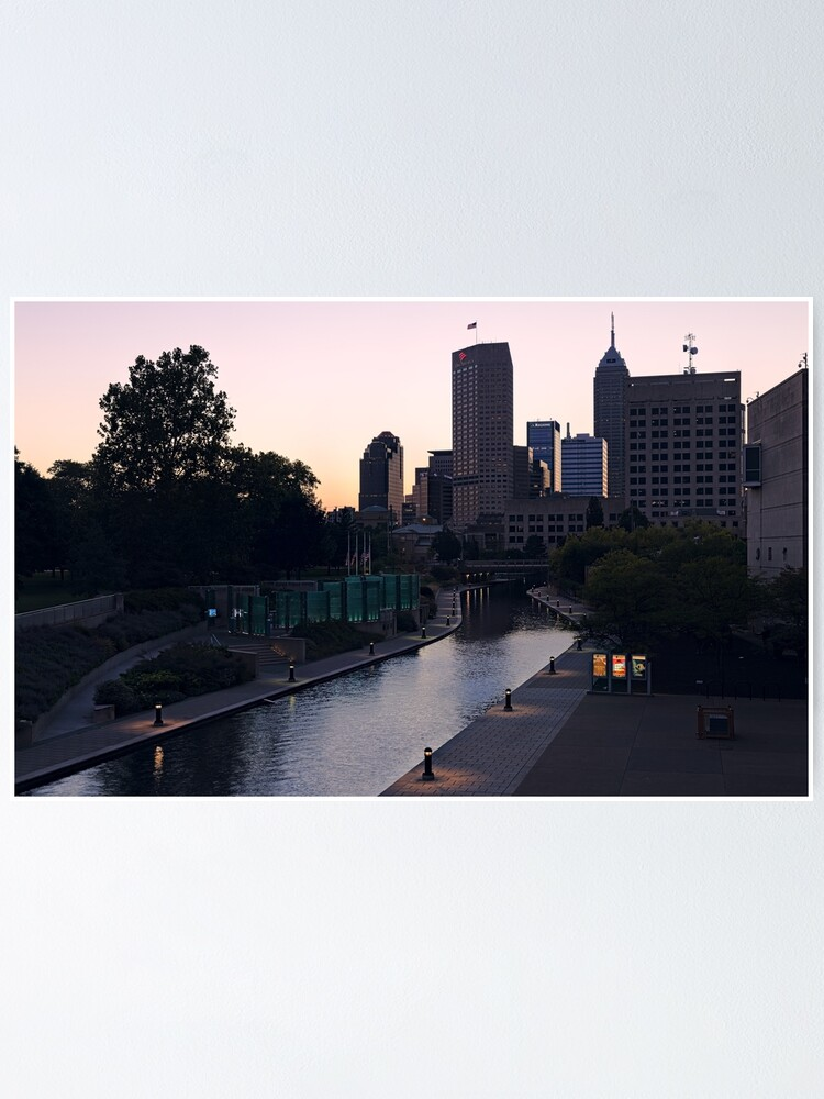 Alternate view of Indianapolis Canal Walk and Skyline Poster