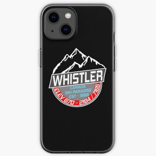 Ski Whistler B.C Canada Skiing Paradise iPhone Soft Case