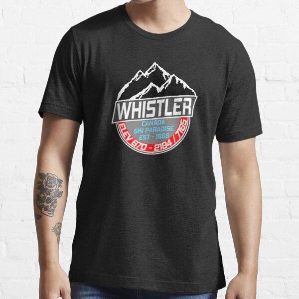 Ski Whistler B.C Canada Skiing Paradise Essential T-Shirt