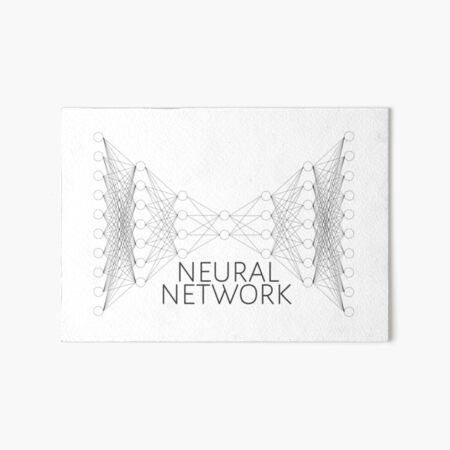 neural network Art Board Print