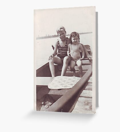 Betty and friend going boating Greeting Card