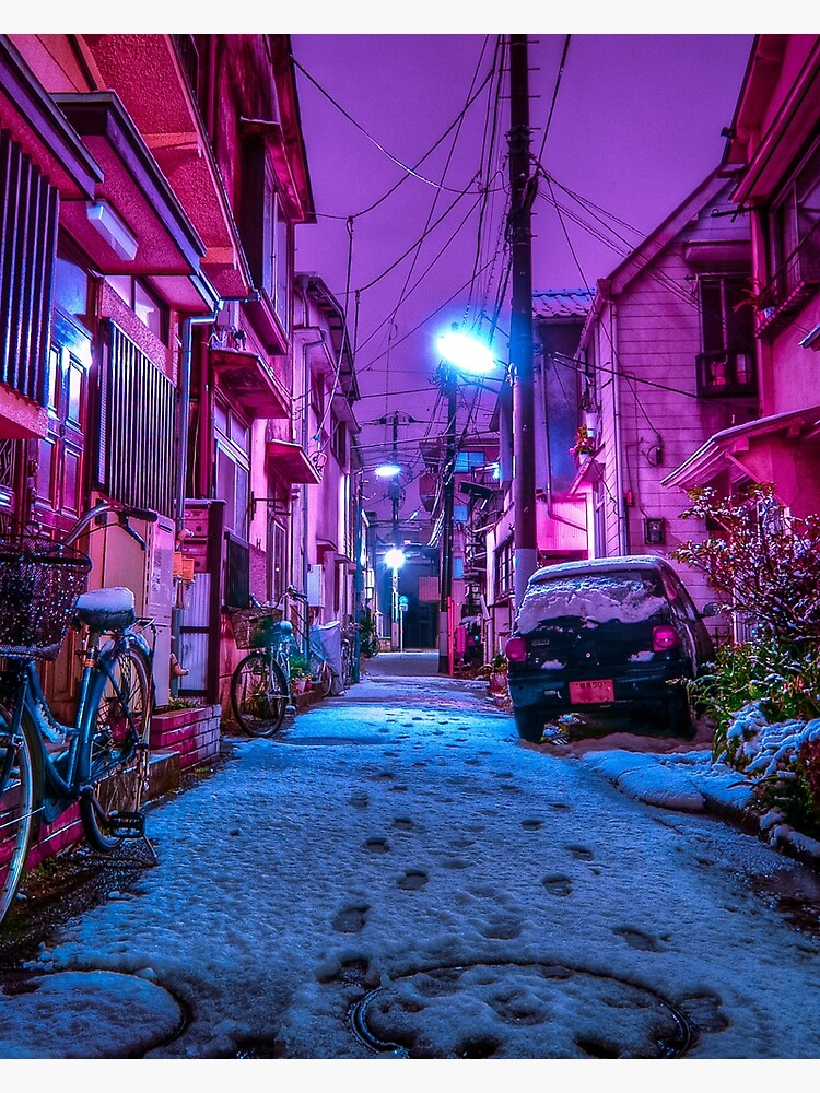 Snow covered Japanese street by TokyoLuv