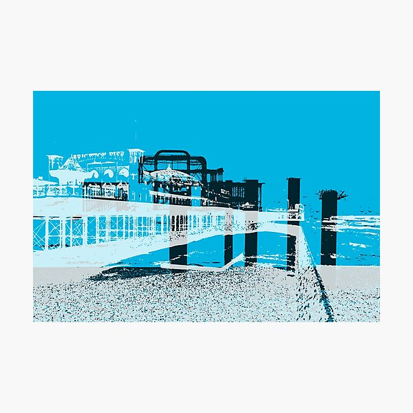 Brightons Two Piers Photographic Print