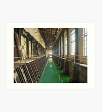 Power Station Forebay Perspective with Green Water (Hydro-electric power station, Niagara Falls) Art Print