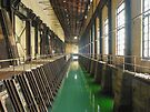Power Station Forebay Perspective with Green Water (Hydro-electric power station, Niagara Falls) by Kendall Anderson