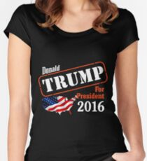 Donald Trump for president 2016 Election Women's Fitted Scoop T-Shirt