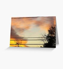 brush with fire Greeting Card