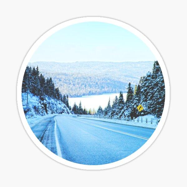 Looking Back. Winter Landscape Photograph  Sticker
