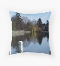 Along the Gorge Waterway Throw Pillow