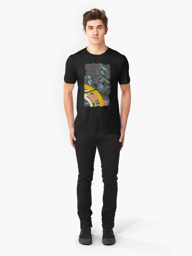 Alternate view of Back to the 80's eighties Slim Fit T-Shirt