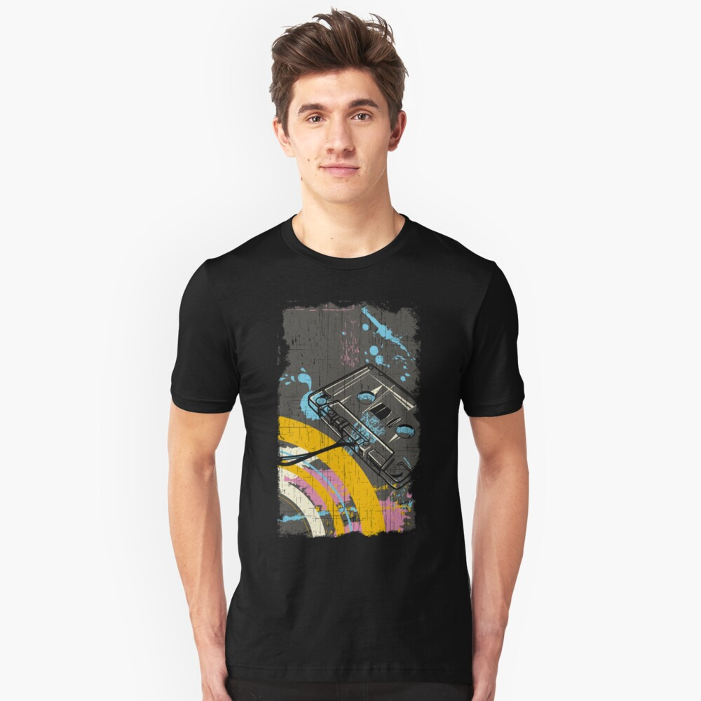 Back to the 80's eighties Slim Fit T-Shirt