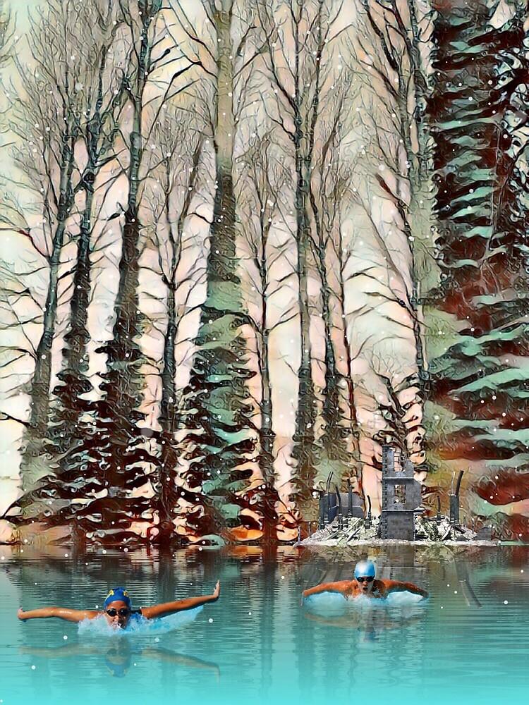 Woodland Winter Dip. by Bo Jones