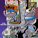 Rats issue #1 comic book cover by eyespyeye