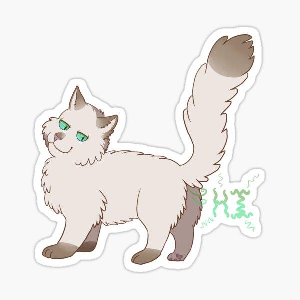 The Cat Says Hello Sticker