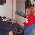 Chantel and Rex and her cat by cdcantrell