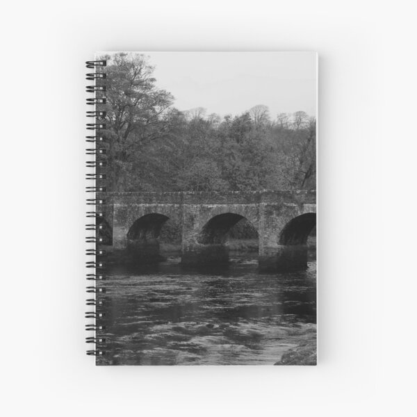 Buncrana Heritage Trail Donegal bw Spiral Notebook