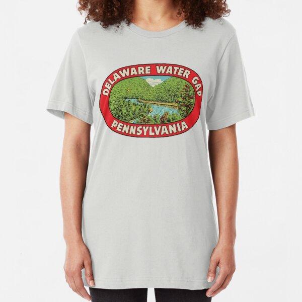 Vintage Delaware Water Gap Pennsylvania Slim Fit T-Shirt