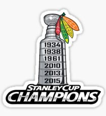Chicago BlackHawks Stanley Cup Champions Sticker