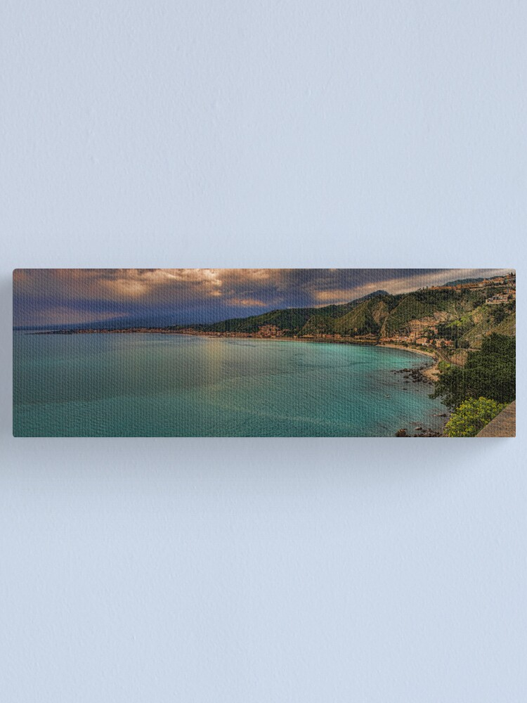 Alternate view of Vista panoramica della baia di Naxos Canvas Print