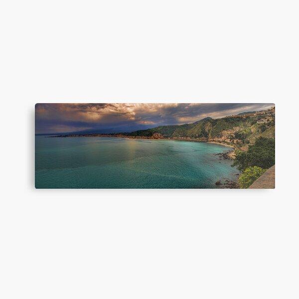 Vista panoramica della baia di Naxos Metal Print