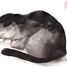 « Sumi-e Cat » par Threeleaves