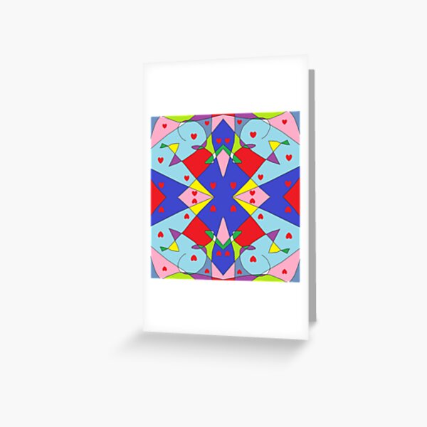 New Money Abstract Painting Greeting Card