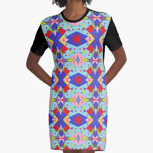 New Money Abstract Painting Graphic T-Shirt Dress